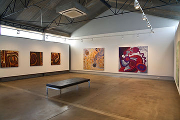 "Our exhibition ""Kinara Mimi"" at RAFT Artspace in Alice Springs, 2020. Photo: Dallas Gold"