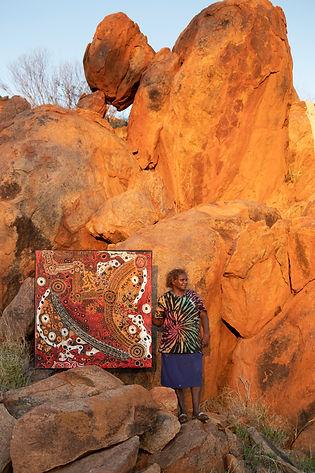 Pauline Wangin in Mimili Community, photo: Meg Hansen Photography
