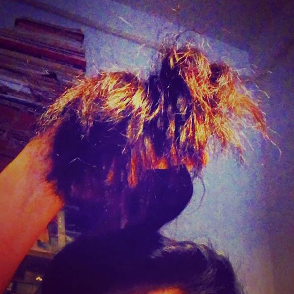 O meu cabelo é a fonte de Sintra do Dacosta
