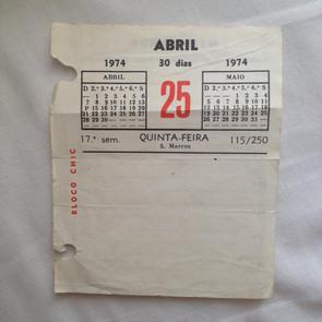 calendário histórico