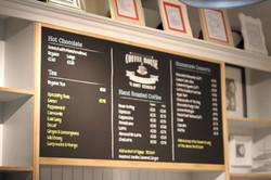 Hanging menu board