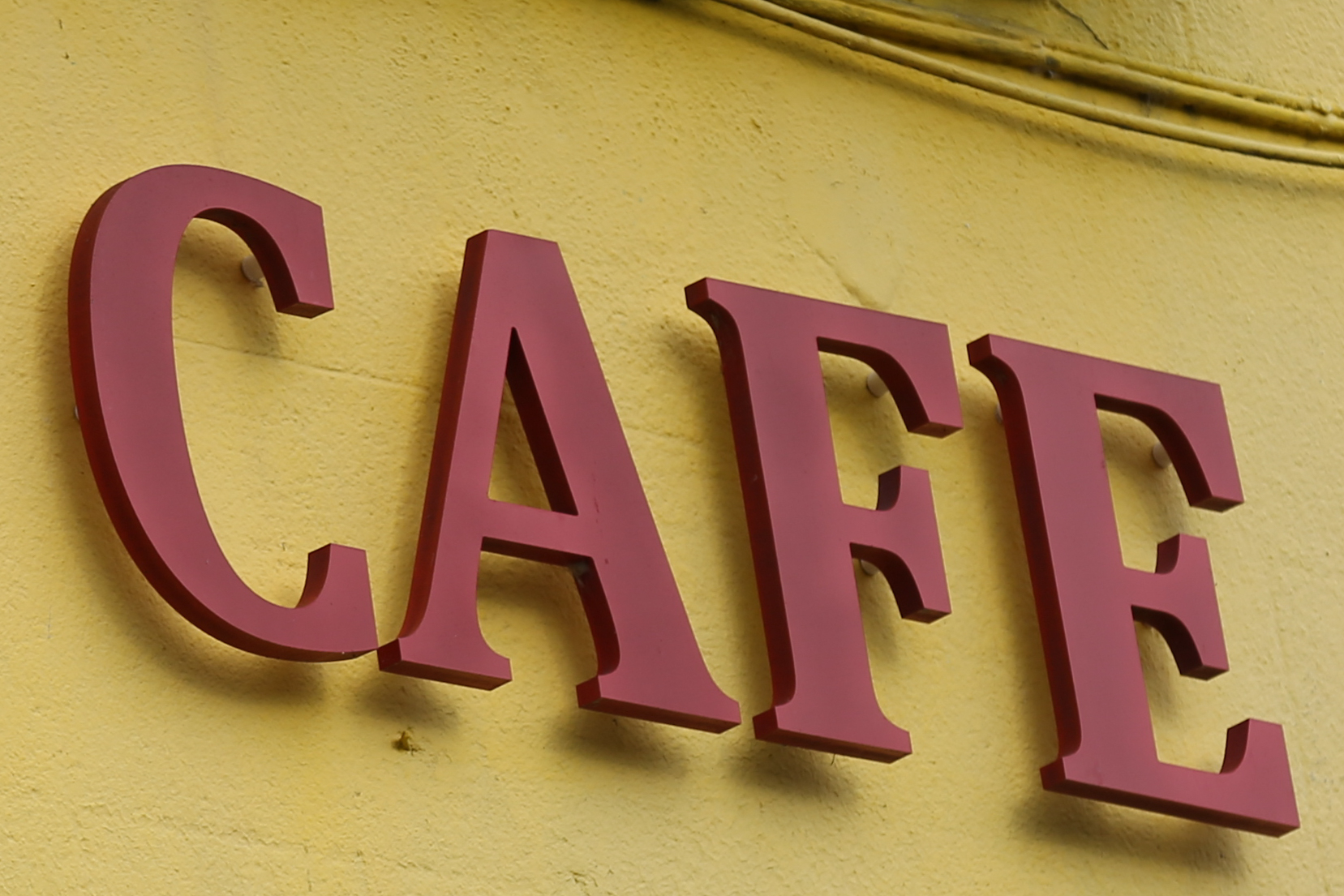 Fret cut lettering