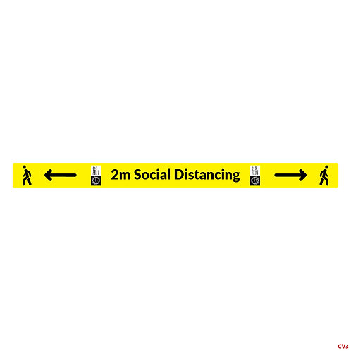 2 Meter Social Distancing Marker Sticker