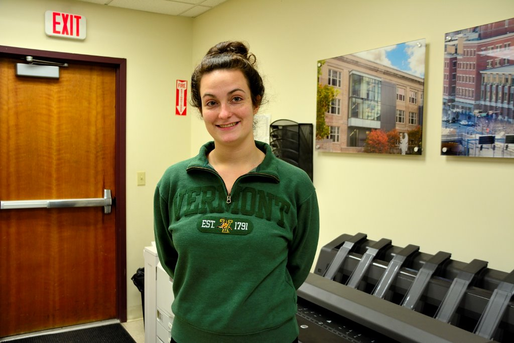 Caroline at the University of Vermont
