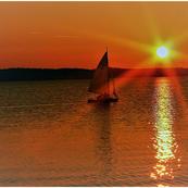 Gerhard Harz-Müggelsee Sonnenuntergang