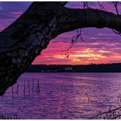 Sonnenuntergang Straussee