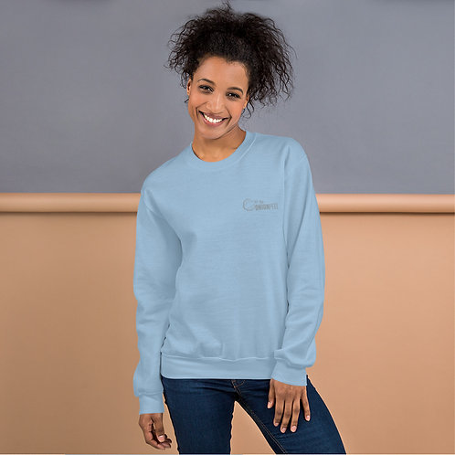 Unisex Sweatshirt Crew Gray, Pink, Lt Blue, Indigo Blue, Black, Red