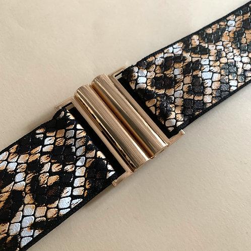 Art. 387 Cintura basic dorata h 4 cm