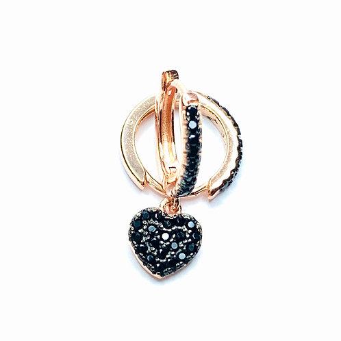 Mono Orecchino cuore ARG925