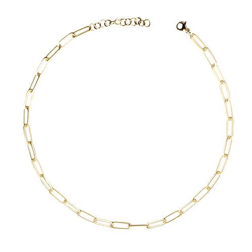 girocollo catena rettangolare