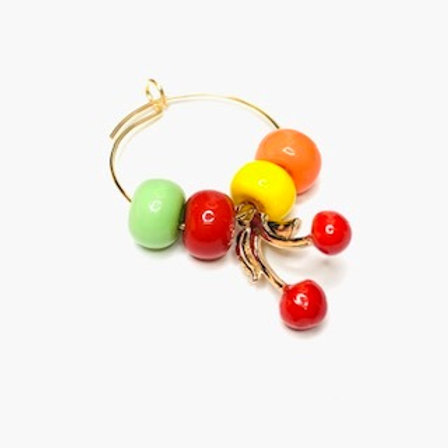 Mono orecchino cherry