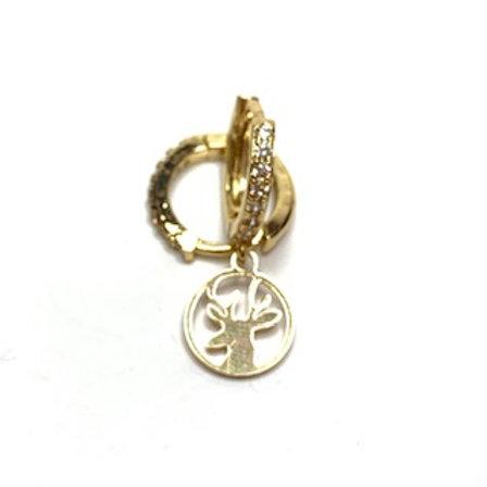Mono orecchino renna oro