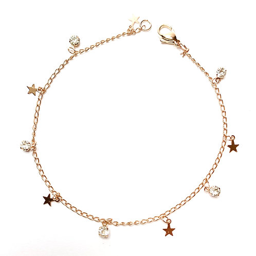 Cavigliera sparkly stars