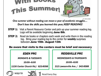 Parent Resource Center Summer Reading Program