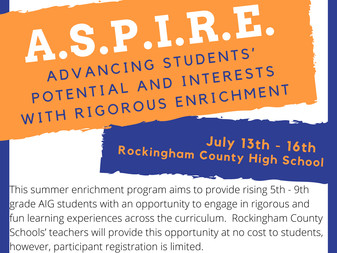 Come join the fun this summer! A.S.P.I.R.E