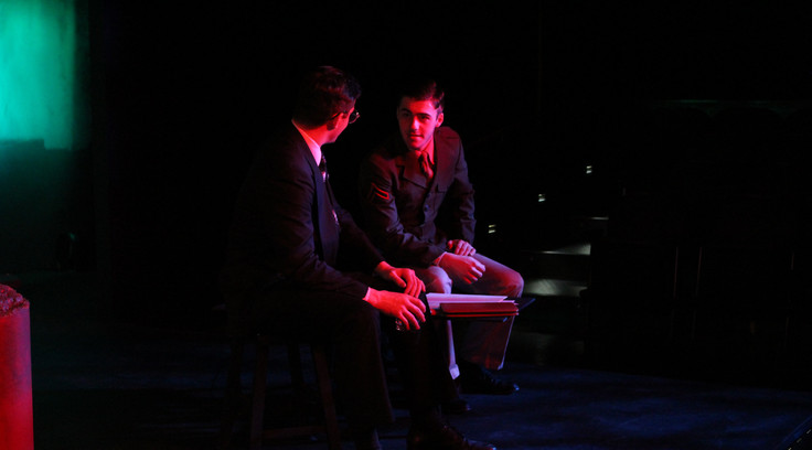 Jake as Frank in The Realm of Whispering Ghosts/If Truman Met Einstein at Wayne State University.