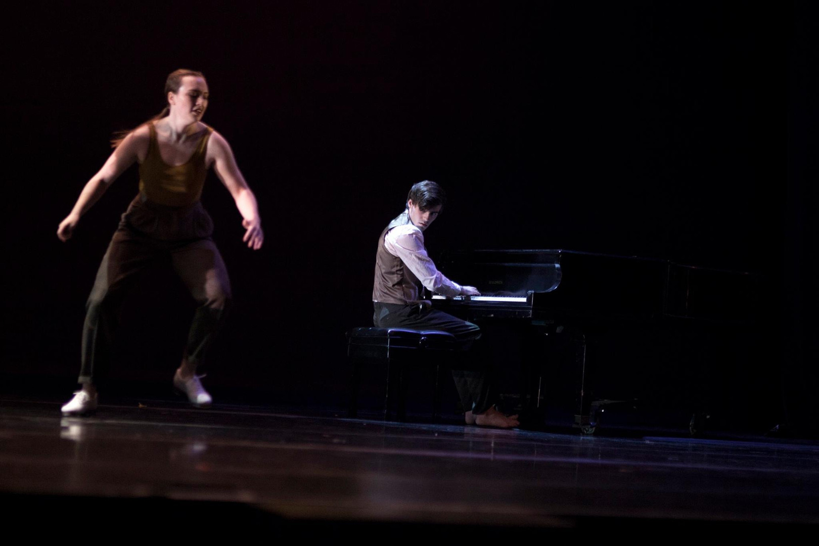 Composer/Choreographer/Performer in Inside/Outside (chosen to be a part of the 89th December Dance Concert) at Wayne State University