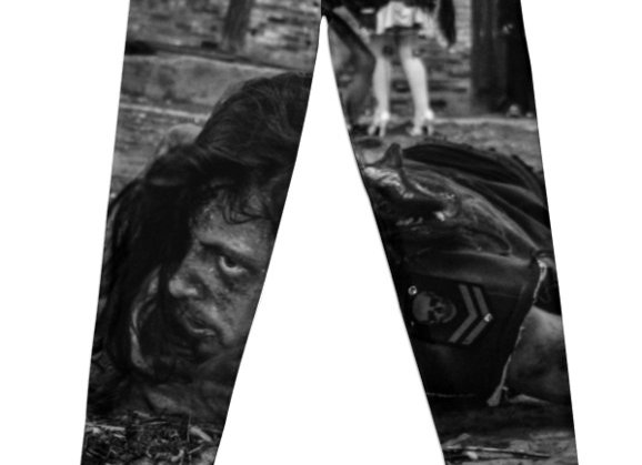 Zombie Crawl BW Women's Leggings