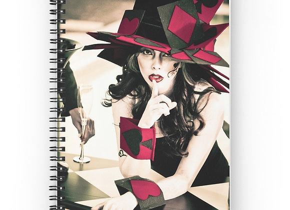 Surreal Wonderland Mad Hatter Spiral Notebook