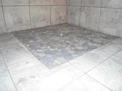 Dusche Naturstein Mosaik