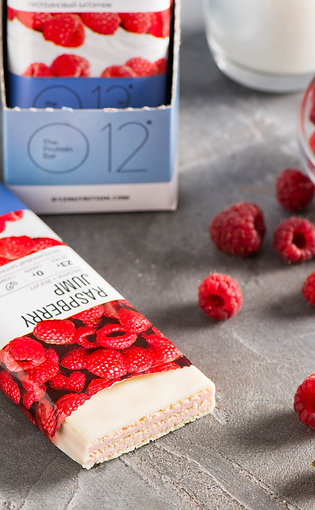 Протеиновые вафли О12 с малина в йогурте #o12bar