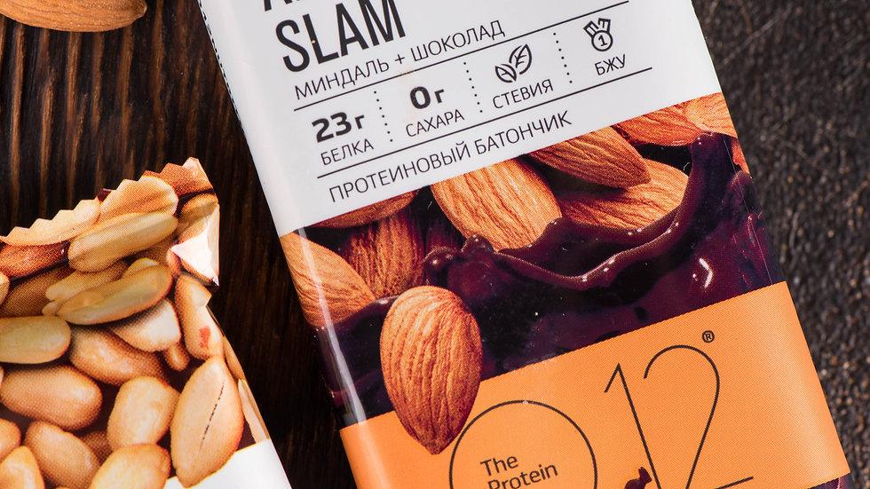 о12 протеиновые вафли с миндалем almond slam