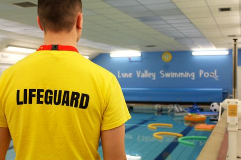 Lifeguard calling for duty.