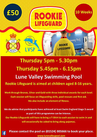 LVSP - Rookie Lifeguard Poster - 28 08 2