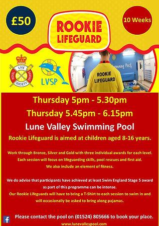 LVSP - Rookie Lifeguard Poster - 28 08 2