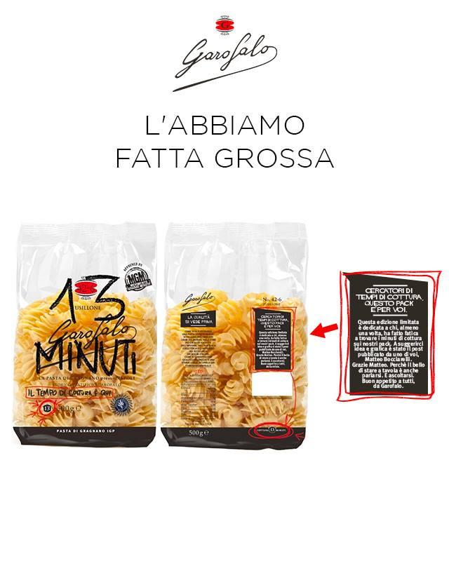 Pasta Garofalo - Movimento Grandi Minuti