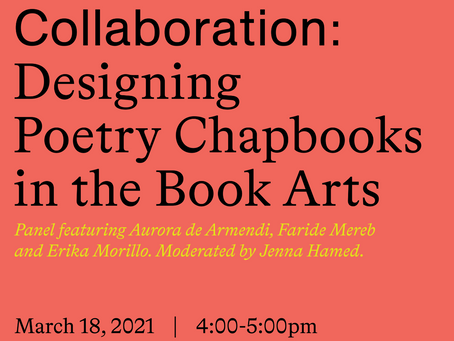 Panel discussion at CUNY Chapbook Festival