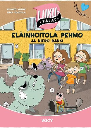 Eläinhoitola pehmo lastenkirja, Testi Vuokko Hurme, kuvtus Tiina Konttila