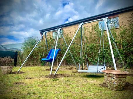 Disability Swings Installed In Sensory Garden