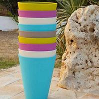 vendita vasi in plastica colorati e leggeri vasa