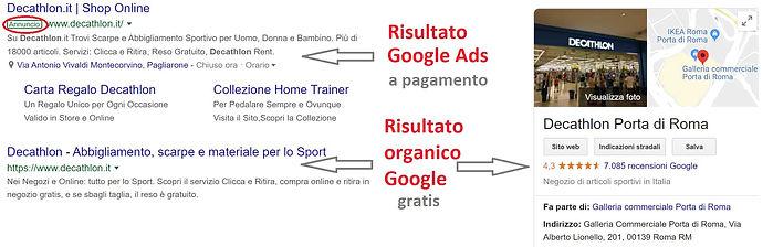 Realizzazione di pubblicità su google