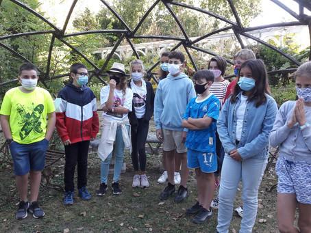 """Journée d'intégration des 6èmes aux """"Jardins Respectueux"""" de Châteaubernard"""