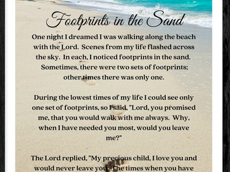 June 22- Footprints in the Sand