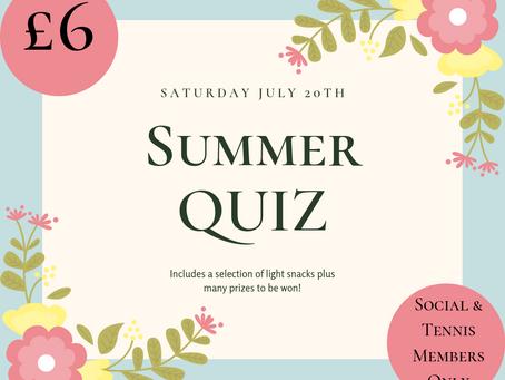 Summer Quiz