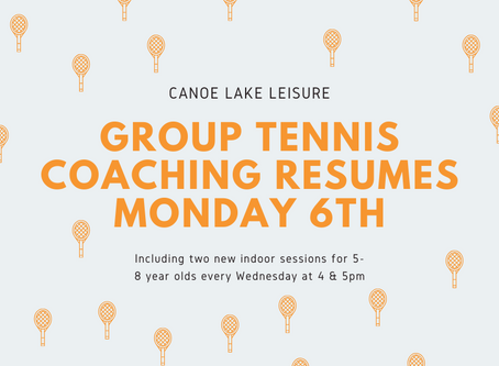 Group coaching resumes Monday 6th