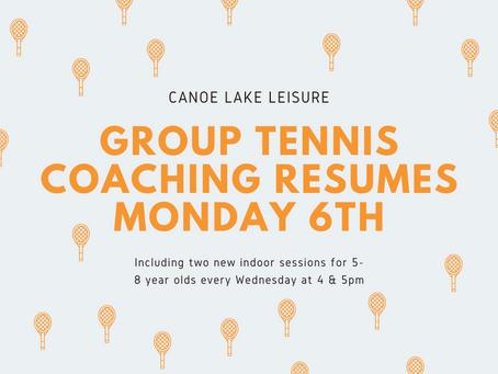Group coaching resumes Monday 6th