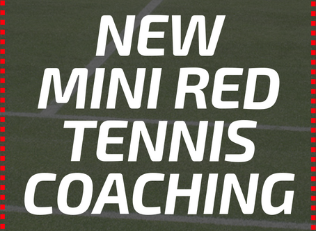 New mini-red coaching courses