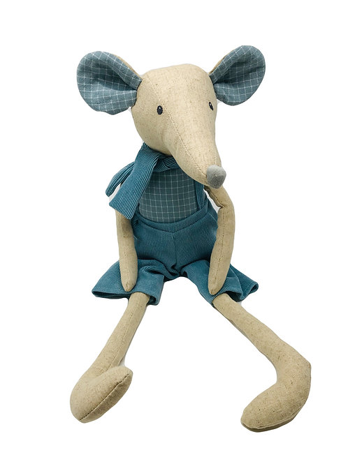 Large Linen Boy Mouse