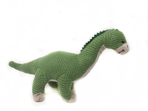 Green Knitted Brontosaurus