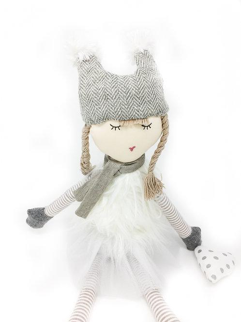 Large White Snow Girl