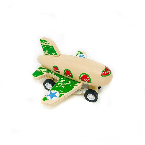Green Pull Back Plane
