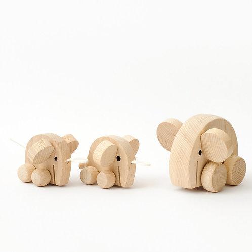 Set of Wooden Elephants