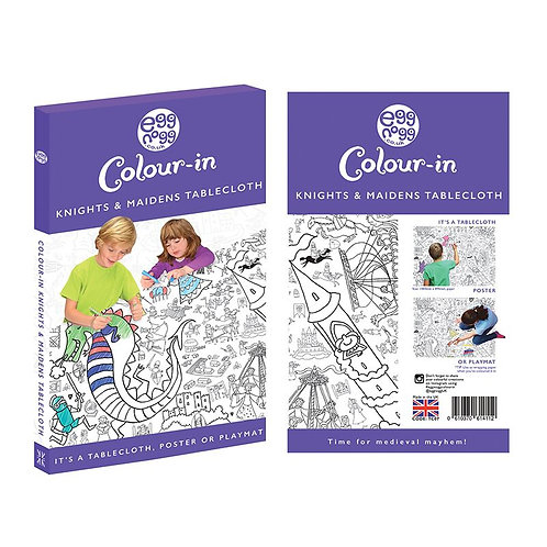Colour-in Knights & Maiden Tablecloth/ Poster
