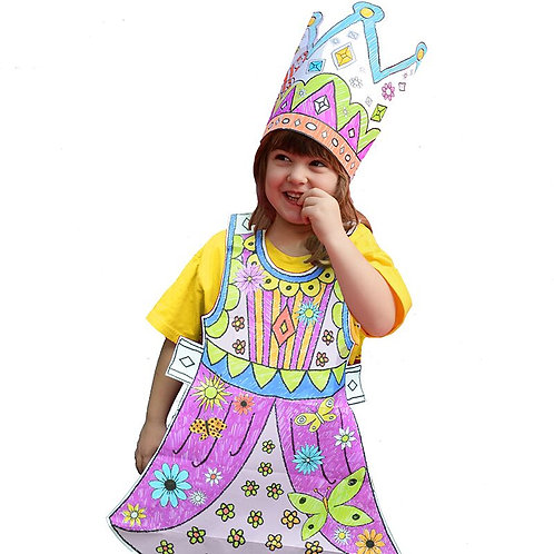 Colour-in Princess Fancy Dress