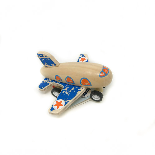 Blue Pull Back Plane