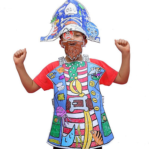 Colour-in Pirate Fancy Dress